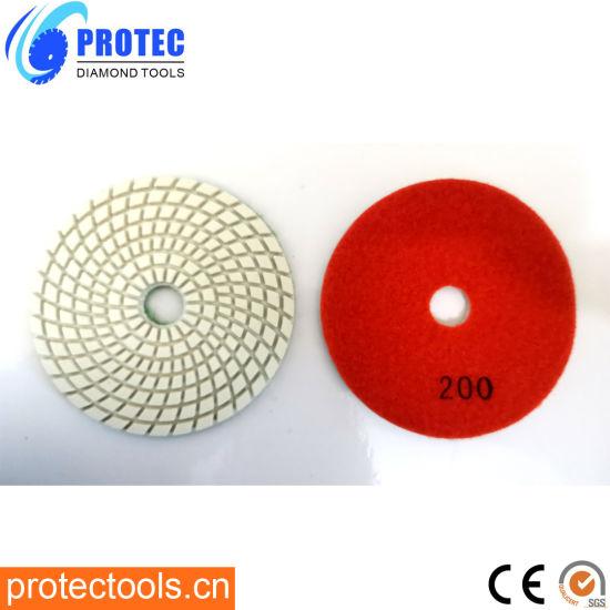 "Diamond Polishing Pads/Diamond Tools/Polishing Tool/Polishing Pad/Wet&Dry Polishing Pads/Flexible Polishing Pads 4""/105mm/7 Step Polishing Pad5"