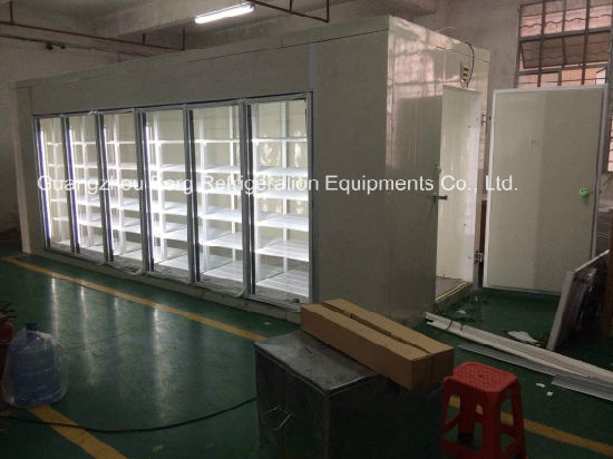 China Commercial Walk In Cooler With Glass Door China Walk In