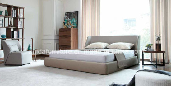 Modern Italian Leather Bed for Bedroom Use (MB1301) - China ...