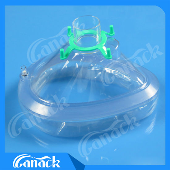 Disposable Medical Consumables PVC Anesthesia Mask with Check Valve pictures & photos