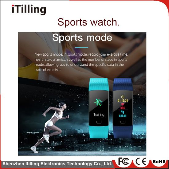 China Smart Bracelet Heart Rate Monitor Pulse Meter Sport