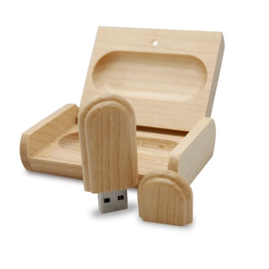 Wooden USB Flash Drive 8GB with Wood Box (TF-0407) pictures & photos