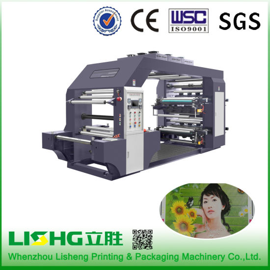 Stack Type 8 Color High Speed Flexo Printing Machine pictures & photos