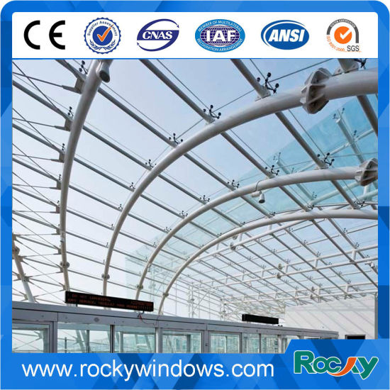 Exterior Building Glass Walls In Spider Curtain Wall System