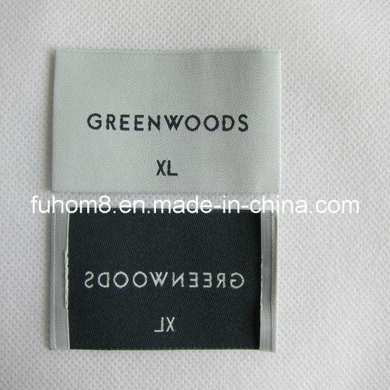High Welt Density 50d Polyester Yarn Woven Label (FH-WL-158)