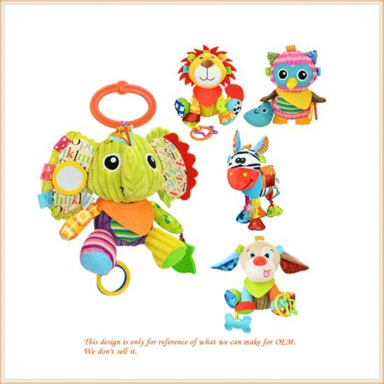Multi Functional Infant Plush Animal Educational Toys for Newborn Babies