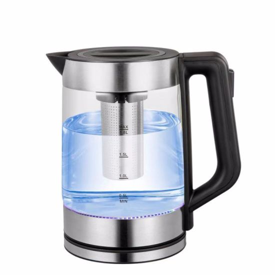 Factory Price with Steel Filter Net Glass Electrical Kettle Sk-G24