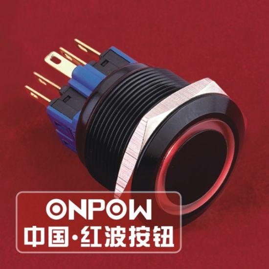 China Onpow 25mm Ring Illuminated Lighted Vandal Proof Push