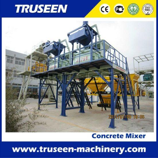 Construction Machinery Capacity 750L Twin Shaft Concrete Mixer