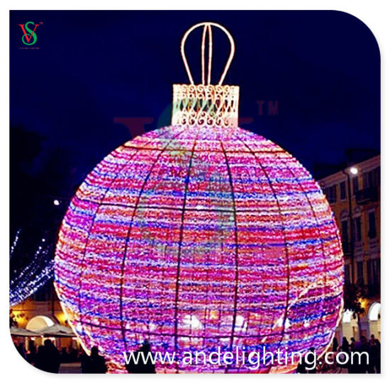 LED 3D Sphere Ball Shape Motif Light for Outdoor Decoration pictures & photos