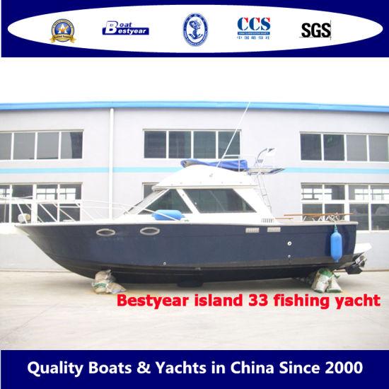 Bestyear 33FT 10m Fiberglass High Speed Island Yacht Passenger Sightseeing Boat Fishing Boat