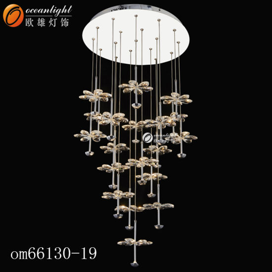 New Product Crystal Ceiling Chandelier Fancy Crystal Pendant Lamps Om923