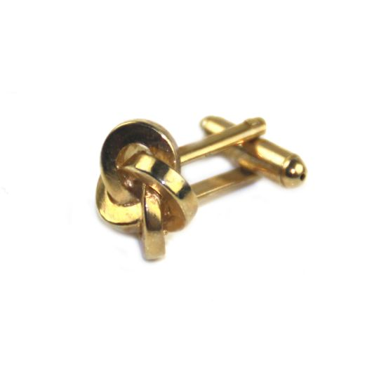 Fashion Business Wedding Metal Gold Knot Cufflinks for Men