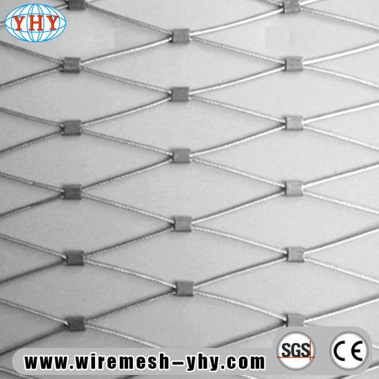 China Hand Woven 304 Stainless Steel Rope Decorative Mesh Netting ...