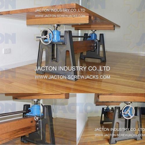 Adjustable Work Table Hand Crank Height Crank Mechanism Hand Crank Screw Lifter Adjustable Height Workbench
