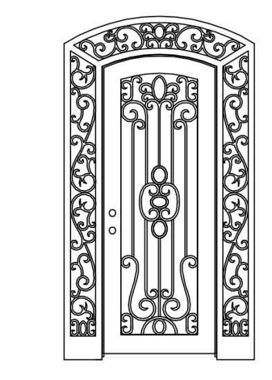 Hand Forged Wrought Iron Gate with Wheels pictures & photos