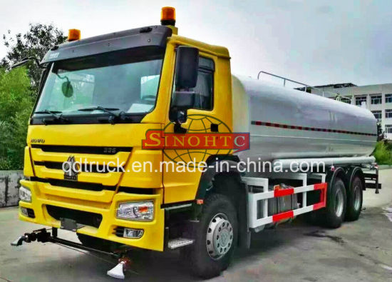 6X4 spraying truck, HOWO 15-20 tons sprinkler truck pictures & photos