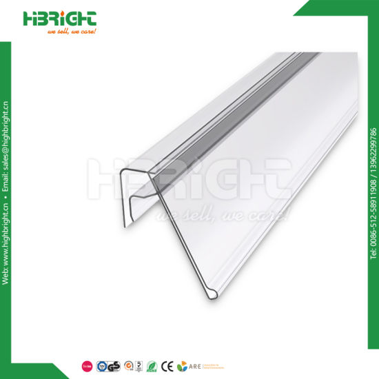 Supermarket Plastic PVC Shelf Talkers for Glass/ Wooden Shelves
