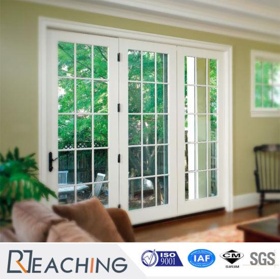 Horizontal Opening White UPVC Clear Fiberglass Doors for Balcony & China Horizontal Opening White UPVC Clear Fiberglass Doors for ...