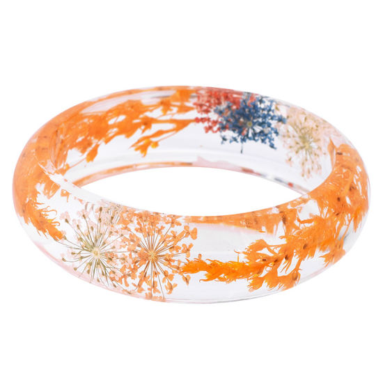 Hot Sale Dried Flower Real Wheat Bracelet Resin Bangle for Gift pictures & photos