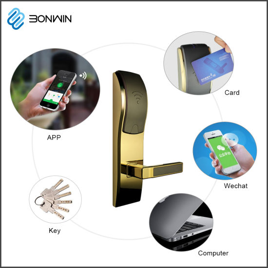 Bonwin Hotel Remote Control Electric Card Reader Door Lock pictures & photos