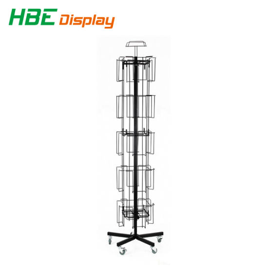 Floor Rotating Spinner Display Rack with Wheels pictures & photos