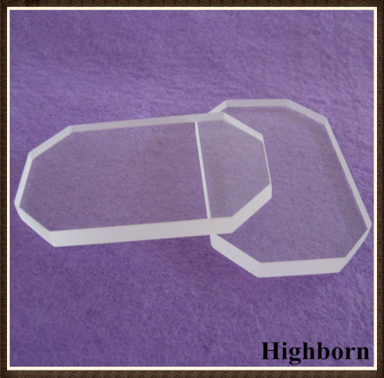 Heat Resistant Clear Quartz Glass Plate with Corner Cutting pictures & photos