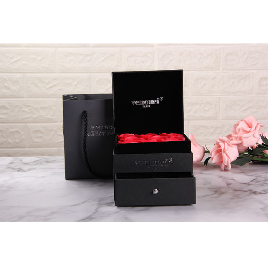 High Quality Exquisite Eternal Flower Gift Box for Jewellery Packaging