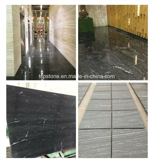 Natural Granite Via Lactea Black Granite Slab
