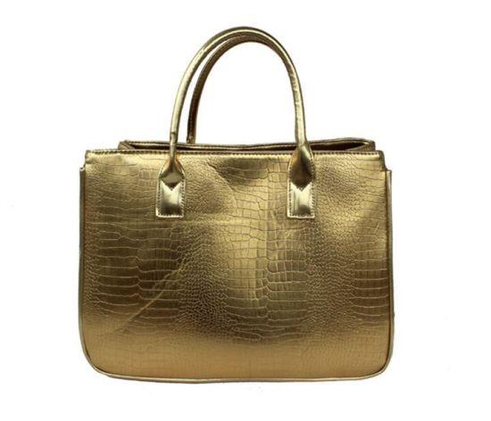 db5c3ee639 China Supplier Bag Manufacture Direct Wholesale Cheap Golden Lady PU Handbag