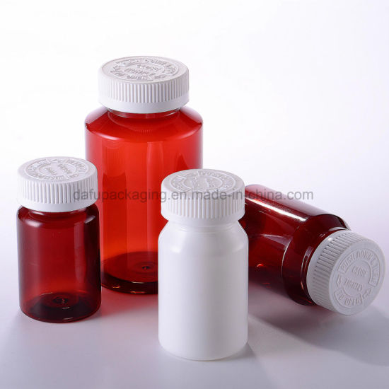 Medicial Packaging Pet Medicine Plastic Bottle with Plastic Cap