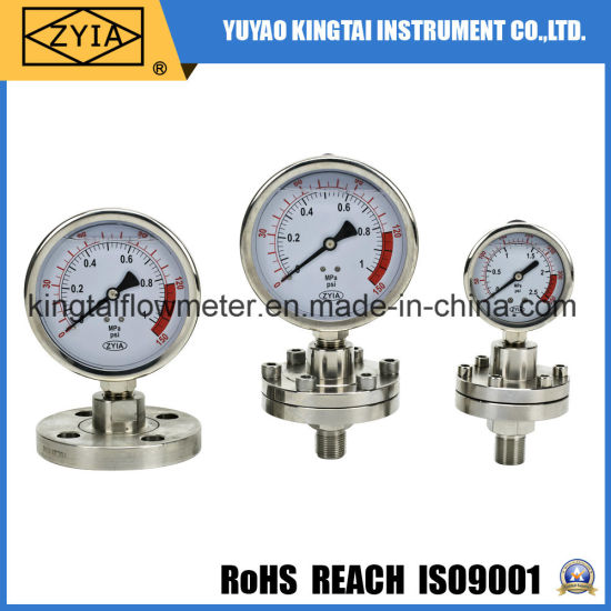 Full Stainless Steel Construction Diaphram Pressure Gauge for Low Pressure Measurement