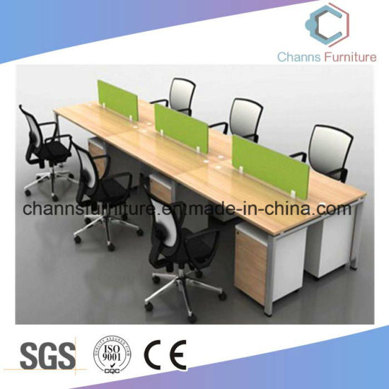 Classical Commercial Office Table Partition With Glass For 4 Persons