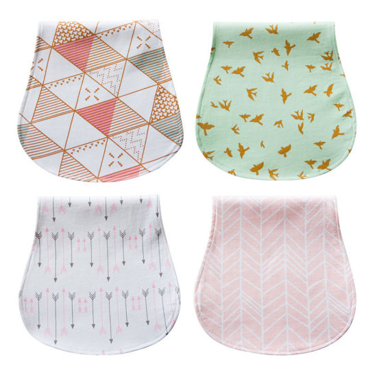 Absorb Cute Cotton Muslin Unisex Beautiful Handmade Baby Bandana Bibs Baby Burp Cloths