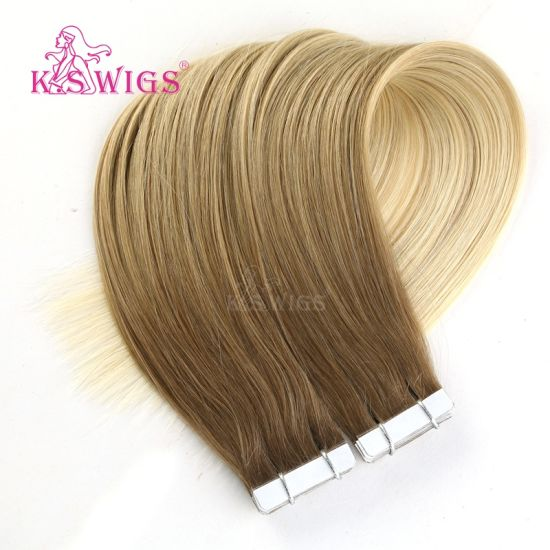 Highest Quality Human Hair Skin Weft 8-30inch Brazilian Remy Tape Hair Extension pictures & photos