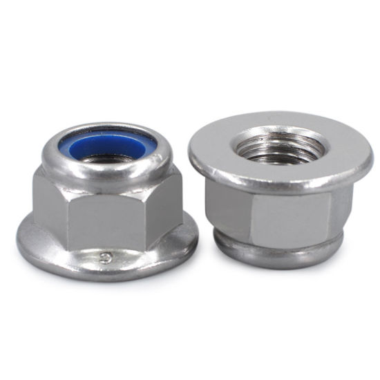 Hexagon Nuts with Flange and with Non-Metallic Insert