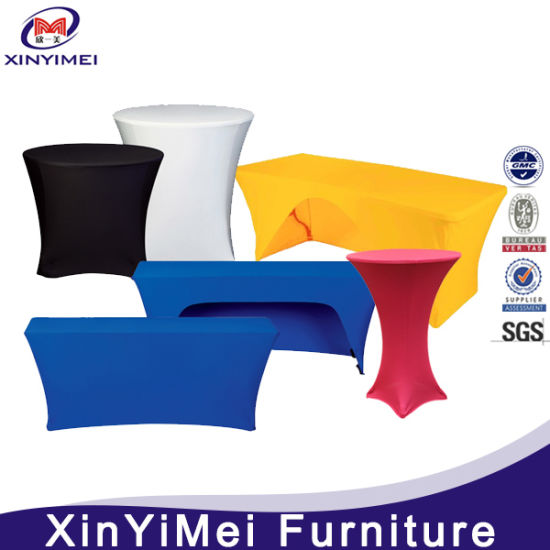 Factory Bottom Price Spandex Cocktail Table Cover (XY22)