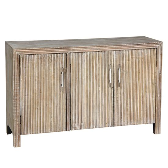 China Accent Furniture 3 Doors Storage Cabinet With Soild Wood Leg