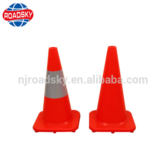 Highway Large Flat Lime Green One-Piece Flexible Traffic Cone pictures & photos