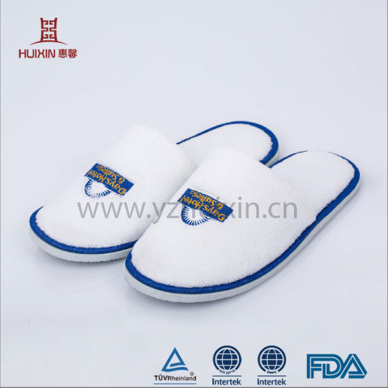 498af1547f501 High Quality Terry Towel Cloth Bath Disposable Hotel Slippers with EVA Sole  Disposable Slipper Hotel Terry Slipper