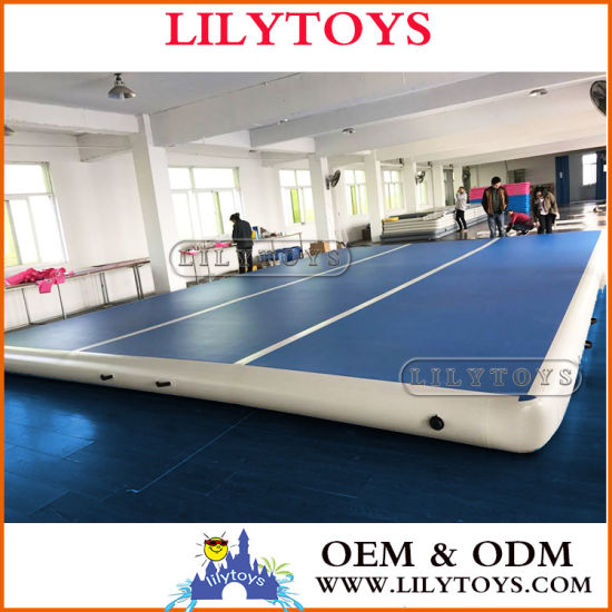 Dwf Material Inflatable Air Track Gym Mat, Inflatable Air Tumble Track, Inflatable Air Track, Inflatable Yoga Mat, Inflatable Gym Mat pictures & photos