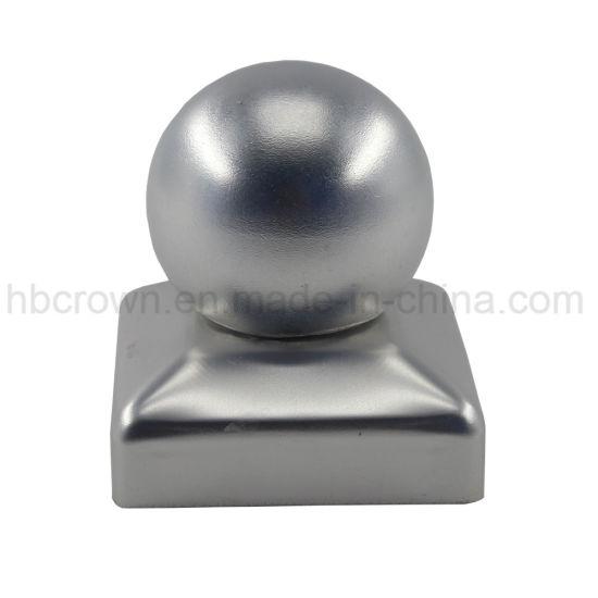 China Decorative Metal Aluminum Alloy Round Fence Post Caps