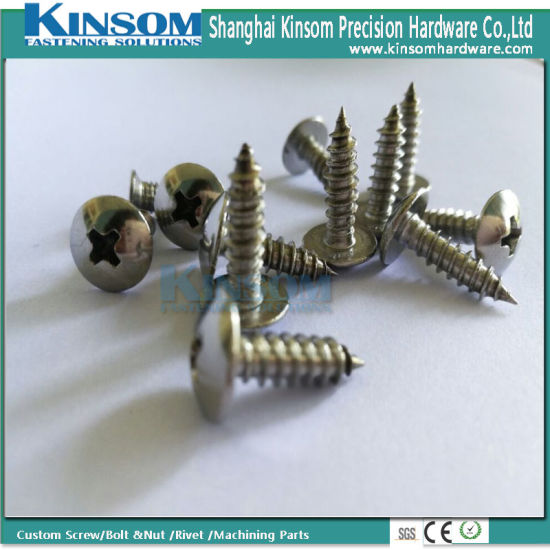 Stainless Steel 304 Pan Cross Phillips Head 4*20 Custom Size Self Tapping Screw