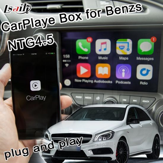 Plug & Play Apple Carplay Box for Benz C/E/a/B/Ml/Glk Ntg4.5 with Bluetooth Youtue Siri Command, Steering Wheel Control pictures & photos