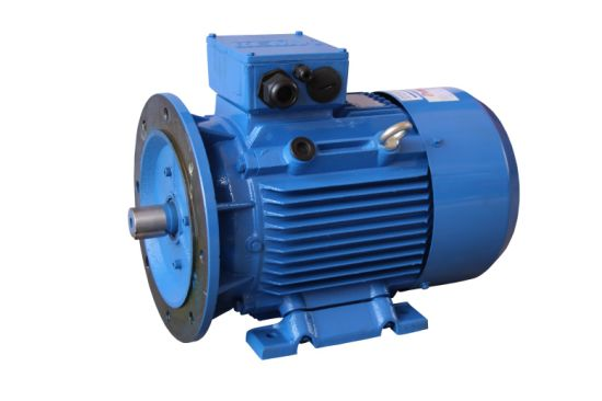Electric Motor Castings with Blue Painting