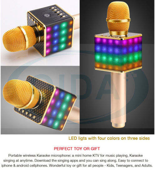 Wireless Bluetooth Microphone Karaoke Player Party Home KTV Singing  Bluetooth Speaker for iPhone Android Smartphone