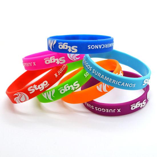 Promotional Soft PVC Silicon Rubber Bracelet/Wristband