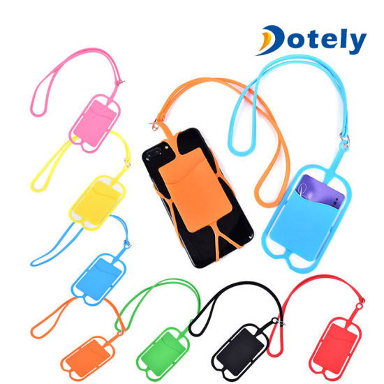Universal Silicone Lanyard Case Cover Holder Sling Necklace Strap