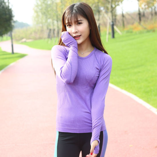 Grey Hot Selling Fitness Gym Tops Women Sports Yoga T-Shirts