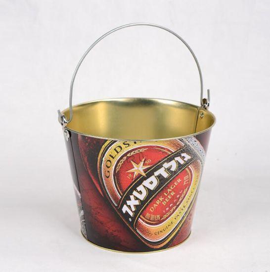 Custom5l Metal Beer Bucket, Galvanized Metal Ice Tin Bucket